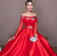 Rode Trouwjurk.Kopen Hoge Kwaliteit Rode Traditionele Chinese Trouwjurk Borduurwerk