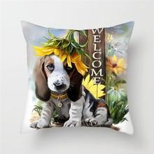 Fuwatacchi Cute Animal Cushion Covers Lovely Dogs Printed Throw Pillow Sofa Chair Car Home wedding Decor Pillowcases