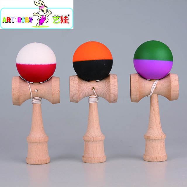 Juguete juego Kendama Bola de Cuerdas Profesional Sobre 18.5 o 19 cm Bola KENDAMA Deportes de Ocio juguete bola al aire Libre gratis