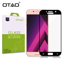 OTAO 3D Full Cover Tempered Glass Screen Protector For Samsung Galaxy A3 A5 A7 2017 Glass Film HD Clear 9H for A320 A520 A720