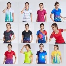 Новые женские теннисные футболки, Женский Быстросохнущий комплект для бадминтона, спортивная одежда для девочек, желтая футболка для игры в теннис, футболка для бега