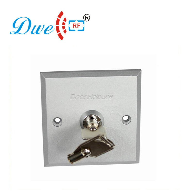 цена на DWE CC RF Free shipping Aluminum alloy access control exit button switch with Key push button switch