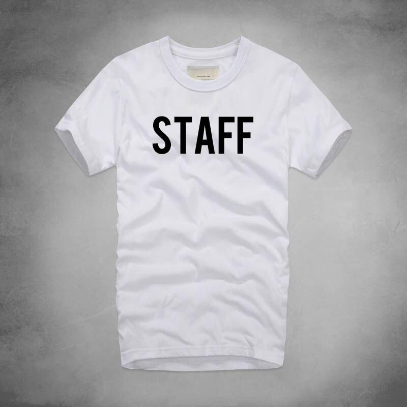 STAFF T Shirt summer Style Justin Bieber Artist Music Band Concert Party Festival Carnival Show Uniform College School Club