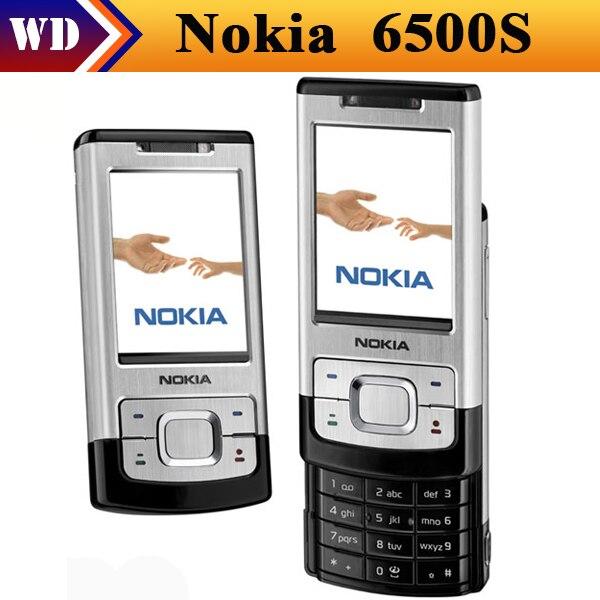 Цена за 6500 S оригинальный Nokia 6500 Slide сотовых телефонов 3 г Bluetooth Mp3 плеер 3.15MP телефон бесплатная доставка