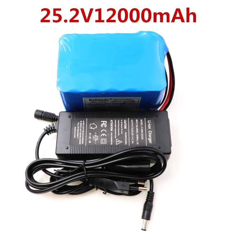 Battery pack 24v 12ah lithium battery pack 25.2V 12000mAh battery li-ion for bicycle battery pack 350w e bike 250w motor wit gp 23a battery pack
