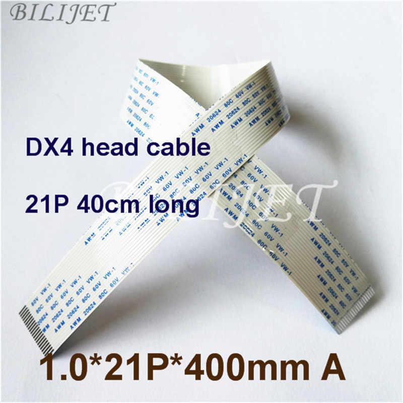 1 PC Luas Eceran Format Plotter Mimaki Roland Mutoh Datar FFC Kabel Data 21 PIN 40 Cm Sisi Yang Sama untuk epson DX4 Printhead Kabel