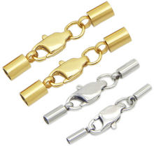 Застежка для шнура из нержавеющей стали золотого и серебряного