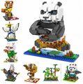 New Arrival Qute 3D KungFu Panda Po Loz Diamond Nano Block Plastic Cube Building Blocks Brick Educational Toy Kawaii Cartoon