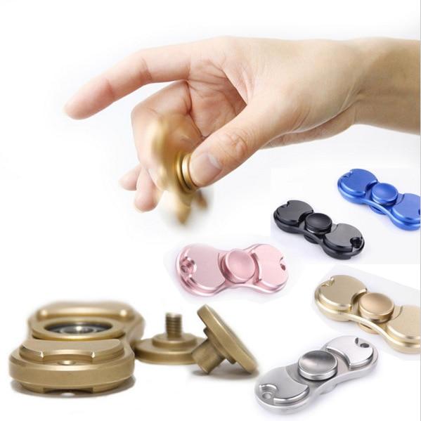 Fidget Spinner Hand Spinner Desk Anti Stress Finger Spin Spinning Top EDC Sensory Torqbar Brass Aluminum