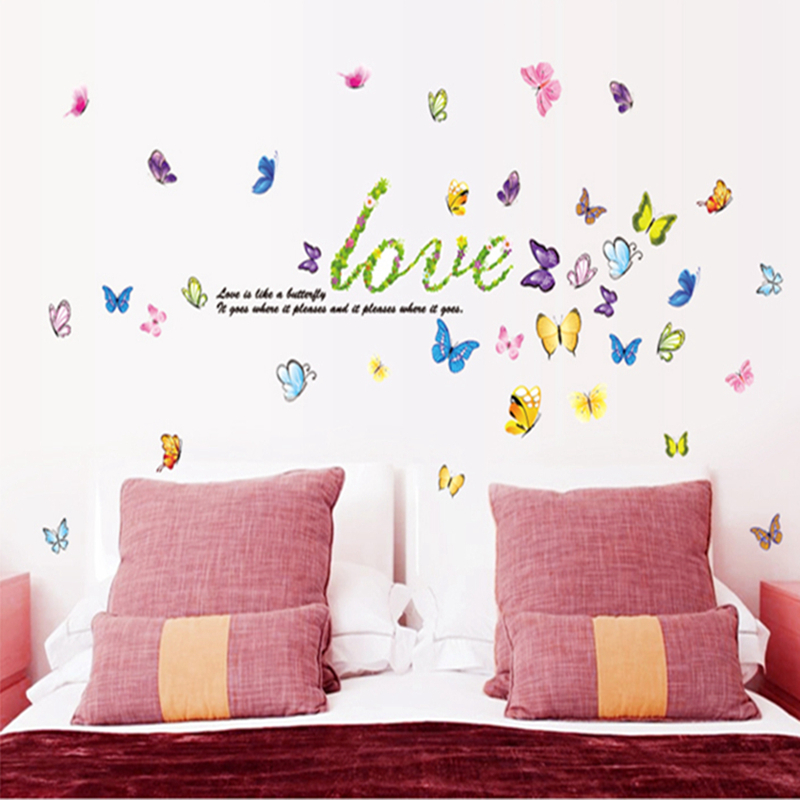 butterfly mariposas decoracion vinilo dormitorio vinilos adhesivos decorativos pared dormitorio pegatinas de pared decoracion de hogar