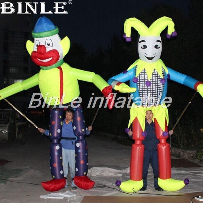 Drôle 3mH carnaval parade clown gonflable marionnette à pied airsoufflé costumes de performance pour la décoration de l'événement