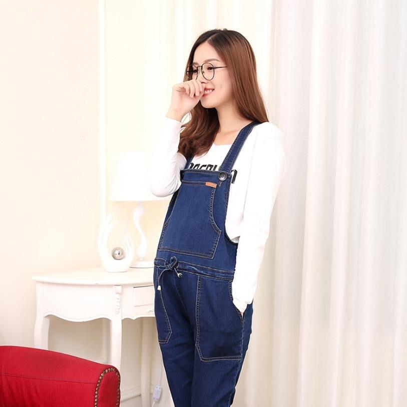 Jeans Overalls For Pregnant Women Spring Autumn New Jeans Maternity Women Big Size Denim Pants Combinaison Pantalon Femme Ws96