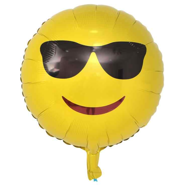 ZHEYIKE 1pc Balony Expression Balloons Emoji Foil Ballon For Birthday Party Helium Globos Wedding Decoration Ballonnen