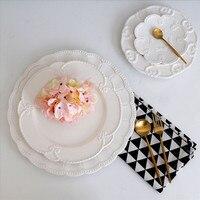 저녁 식사 접시 크리스마스 접시 Platos 트레이 음식 트레이 레스토랑 주요 요리 컨테이너 디저트 플레이트 다용도 접시 Assiette 1pcs