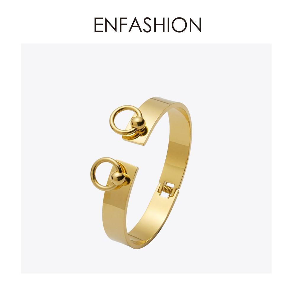 Enfashion Anel Círculo Pulseira manchette Noeud Armband cor de Rosa de Ouro Pulseiras Pulseiras Para As Mulheres Pulseiras pulseiras
