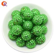 R27 코디 얼 디자인 20MM 100 개/몫 녹색 Chunky 수 지 라인 석 비즈 목걸이에 대 한 Chunky 구슬 CDWB 516016 만들기