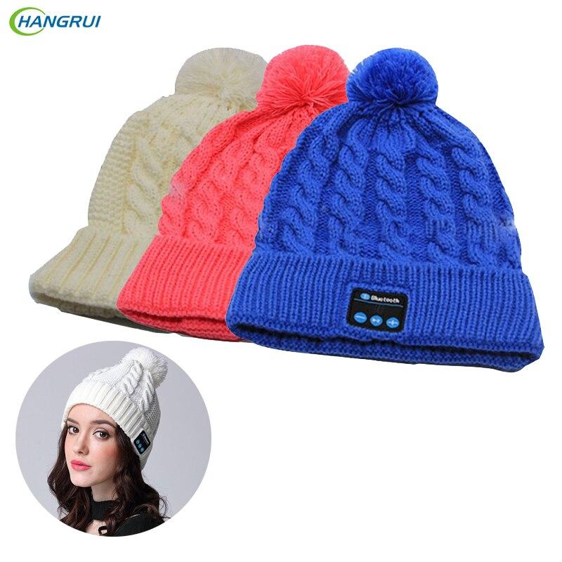 HANGRUI Wireless Bluetooth Earphones Music Hat Smart Cap Headphone Keep Warm Winter hat Headset for xiaomi iPhone fone de ouvido