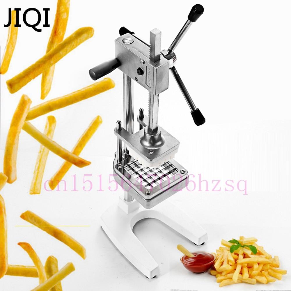 JIQI acier inoxydable maison frites coupe pommes de terre Chips bande légumes Machine à découper fabricant trancheuse Chopper avec 3 lames - 2