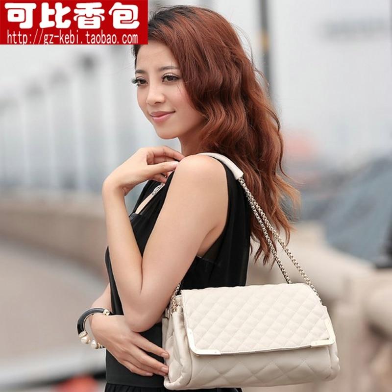 2013 women's handbag one shoulder plaid chain bag fashion bags messenger bag