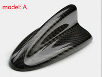 6 styles High quality Universal Carbon Fiber car Antenna shark fin roof antenna, easy to install with 3M double sided tape