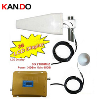 WCDMA REPEATER Phone Signal Booster LCD Display 3g WCDMA Phone Booster 3G Repeater W 20 Meters