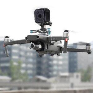 Image 5 - ل gopro & osmo العمل و بانورامية حامل كاميرا يتصاعد قاعدة مع صدمة امتصاص gimbal ل dji mavic 2 برو والتكبير drone