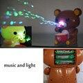 Niños oso eléctrica automática máquina que sopla burbujas bolha de sabao brinquedo juguetes infantiles de dibujos animados conjunto de agua que contiene animales