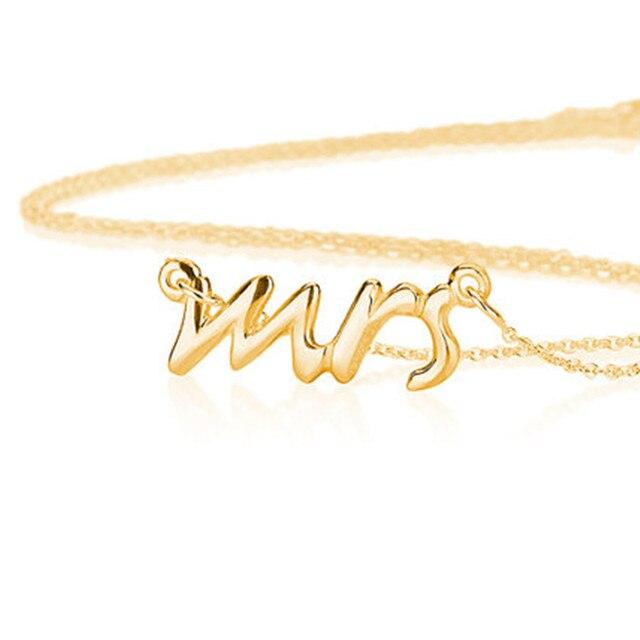 Online Shop Fashion Dainty Mrs Necklace Tiny Love Alphabet Letter