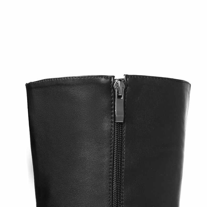 MORAZORA 2018 nouveauté sur les bottes au genou pour les femmes bout pointu Slim femmes bottes zipper super talons chaussures de fête femme