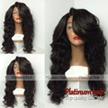 Hot Sales Black Color Synthetic Hair Natural Long Body Wave Wig Glueless Heat Resistant None Lace Synthetic Wigs For Women