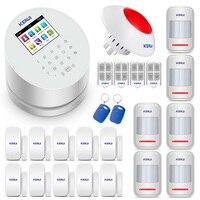 KERUI W2 PSTN GSM Wi Fi Беспроводной дома, в гараже охранной сигнализации Системы 433 мГц Английский Русский Испанский Интерфейс голос
