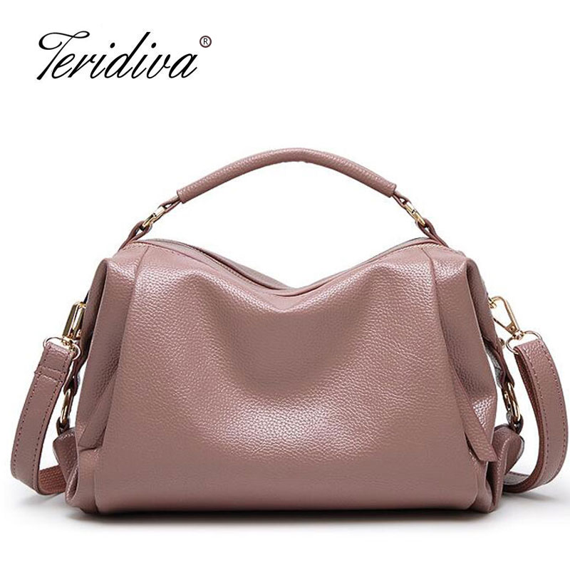 Teridiva Designer Bags Handbags Famous brands Sac a Main Femme Fe Marque Luxury Women Leather Handbag Shoulder Bags Tote Purse bolsos 2016 vintage women leather handbags high quality famous designer brand shoulder bag sac a main femme de marque tote bags