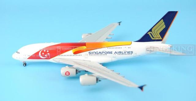 JC Wings XX4951 will be sold: Singapore Airlines A380 9V-SKI 50 anniversary of Independence 1 commercial jetliners plane model