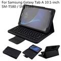 """Leathe cubierta del caso con el teclado desmontable de bluetooth para samsung galaxy tab 10.1 """"sm-t580/sm-t585 tablet 2016 release"""