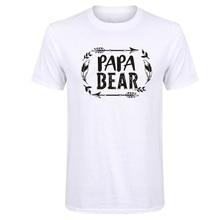 LUSLOS  Papa Bear T-Shirt O Neck Pregnancy Announcement Grandparents Tees Super Soft Comfortable Short Sleeve
