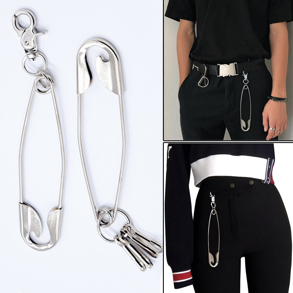 Jean Belt Chain Ring Clip Pant Metal Hipster Key Chain Punk Link Decor Applied