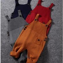 От 1 до 5 лет осенняя одежда для мальчика ясельного возраста детские трикотажные комбинезоны с карманом комбинезоны для мальчиков и девочек штаны-шаровары ярких цветов нагрудник детская одежда