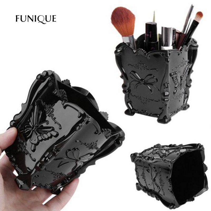 FUNIQUE Classic Plastic Butterfly Cosmetics Pen Holder Jewelry Boxes Home Daily Creative Jewelry Storage Boxes