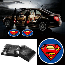 Volkrays 2 X Wireless Car Door Light Laser Welcome Ghost Shadow Projector Superman Logo for Honda Accord City Civic Cr-v