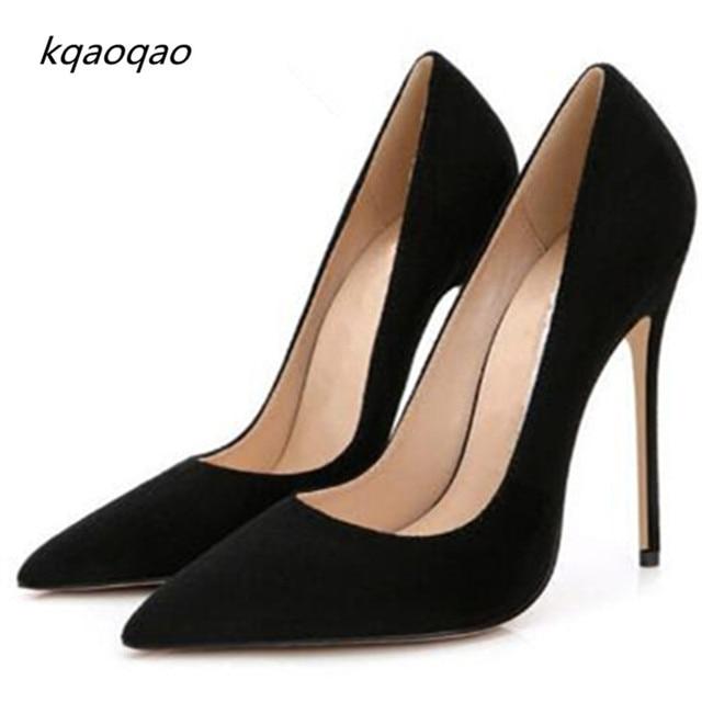 c8c6cf330b Pontas de Camurça Toe Stiletto Sapatos de Casamento Mulheres Bombas de Salto  Alto Fino assim Kate