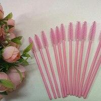 100 Adet/grup Tek Kullanımlık Kirpik Fırçalar Maskara Wands Aplikatör Biriktiricilere Makyaj Kozmetik Aracı Kadınlar Için