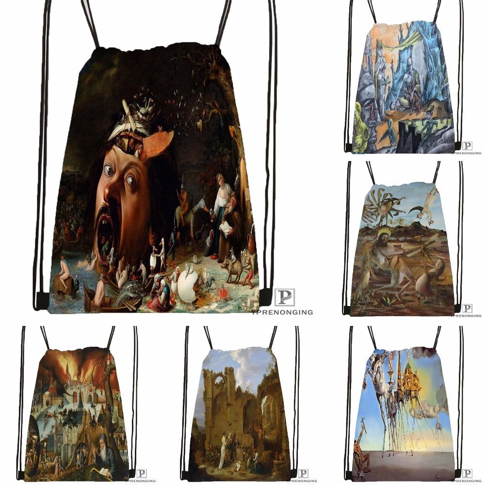 Custom Temptation Drawstring Backpack Bag For Man Woman Cute Daypack Kids Satchel (Black Back) 31x40cm#180531-01-16