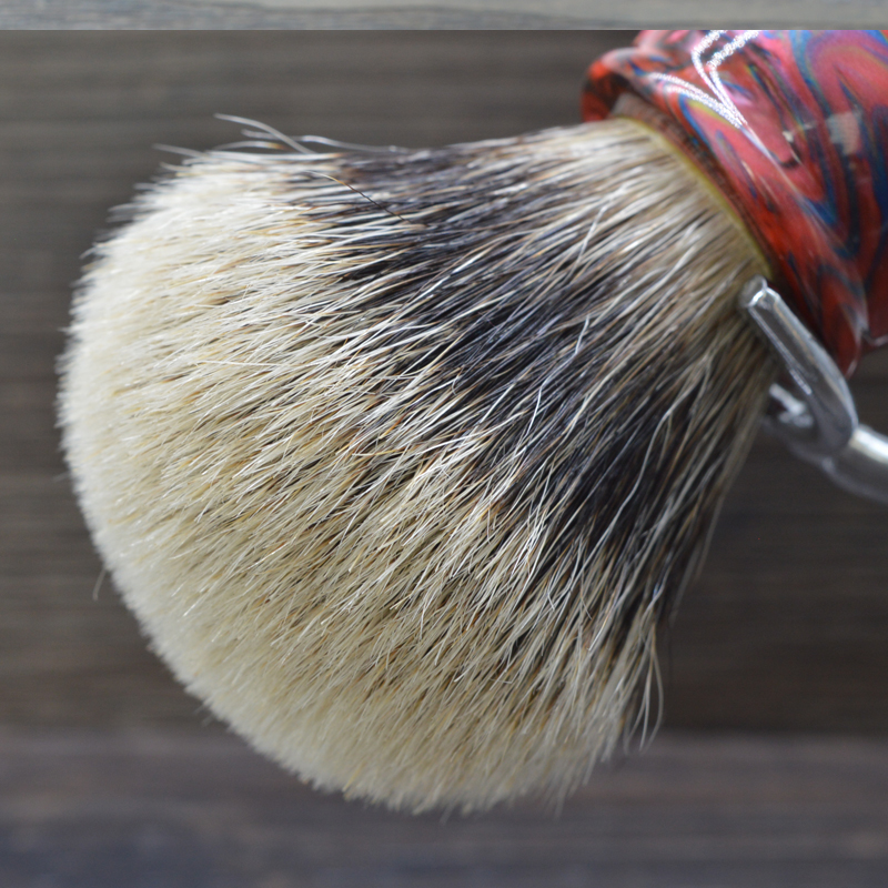 dscosmetic 26mm Galaxy resin handle 2 band silvertip badger hair shaving brush 2