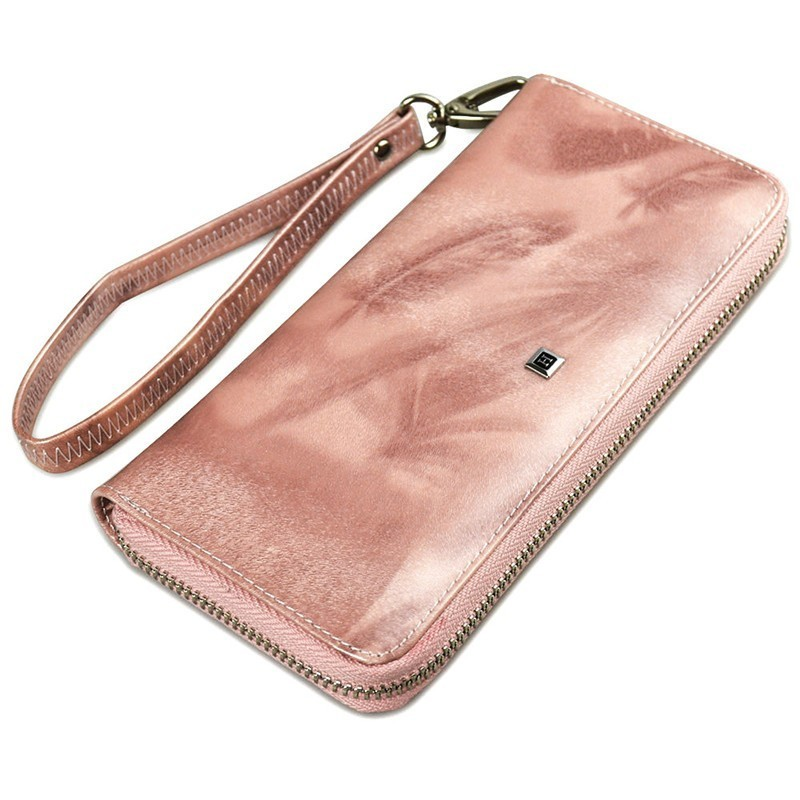 high quality Women's purse genuine leather Wallet Long Cowhide Luxury Brand Wallets Card Holder Phone Purse Female Clutch Bag(China)