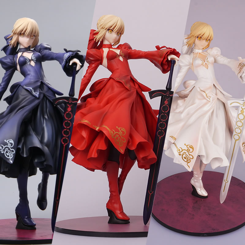 New Fate Grand Order Saber Altria Pendragon Alter Dress Ver PVC action figure collection toys Valentine's Day gift for friends new fate grand order saber altria pendragon alter dress ver pvc action figure collection toys valentine s day gift for friends