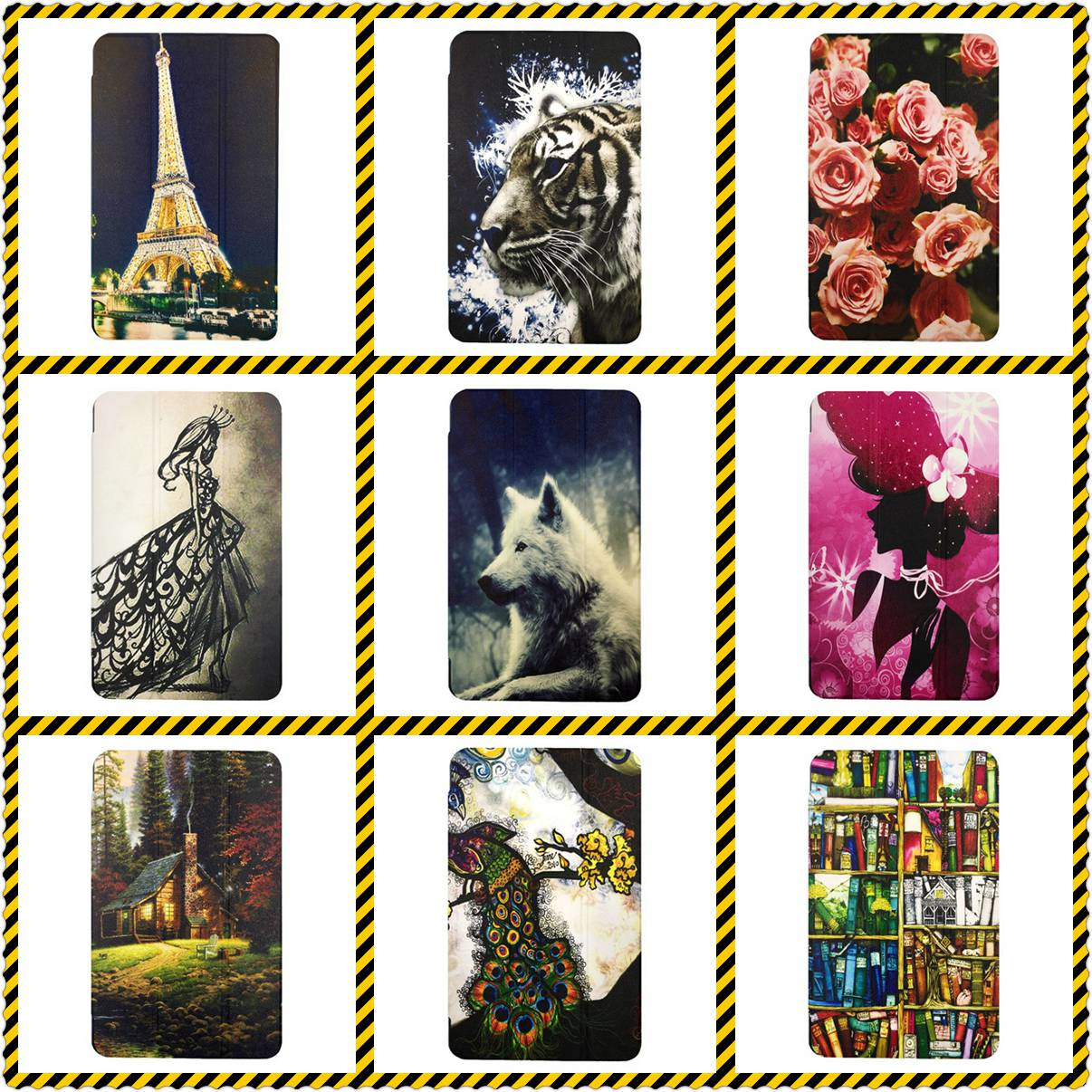 Tablet Coque Funda Hulle Custodie Shell Cover Case for Samsung Galaxy Tab 4 SM-T230 Case Coque Funda Hulle Custodie 16 styles