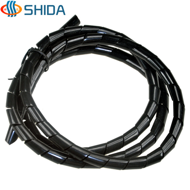 2014 new 10mm*10m length Black white spiral wrapping winding pipe ...