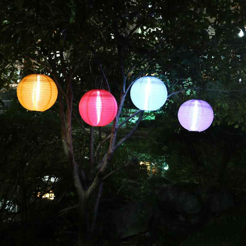 Outdoor Led Solar Chinese Paper Lantern Hanging Night Lights Portable Waterproof Bulbs Decor Lamp For Garden