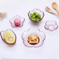 Japanese Style Glass Dishes Multi Purpose Tray Tableware Sauce Dish Fruit Bowl