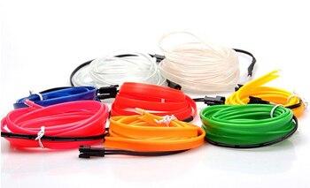 VEELVEE LED Cold lights Flexible Neon EL Wire For Dodge ram Caliber Journey Nitro durango Car Accessories cushion